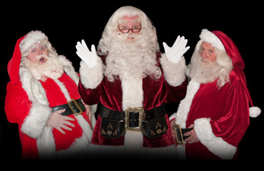A variety of Santas For Hire